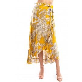 Isl  Print Wrap Skirt
