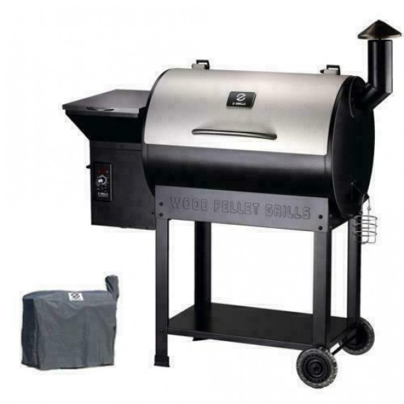 Z Grills ZPG-700E Stainless Steel Outdoor Wood Pellet Grill & Smoker - Silver