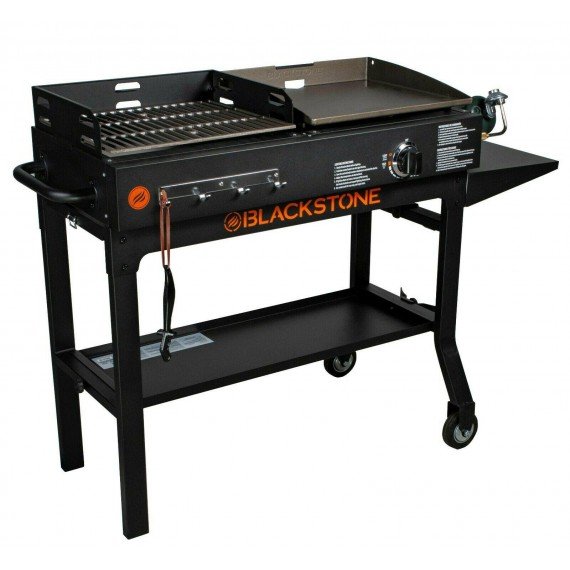 Grill BBQ Griddle And Charcoal Blackstone Duo Combo Flat Top Gas Outdoor Cooking