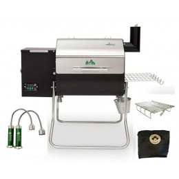 Green Mountain Grills GMG Davy Crockett Wood Pellet Barbecue Grill Package Deal