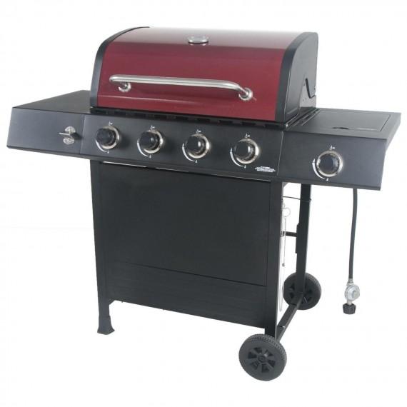 RevoAce 4-Burner Gas Grill with Side Burner - GBC1748WRS (Red Sedona)