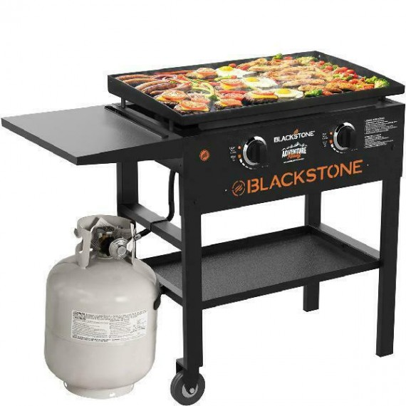 Blackstone 28 inch Outdoor Flat Top Gas Grill Griddle Station Propane 2-Burner