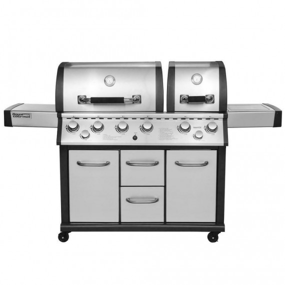Royal Gourmet MG6001-R 6-Burner Gas Grill with Infrared Burner - Stainless Steel