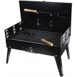 Ai-yixi Barbecue Grill, Barbecue Accessories, Portable Outdoor Grill Patio Picnic Barbecue Stove Outdoor Traveling Cooking Charcoal Grill Barbecue Tools, Grill (Color : Black, Size : 44x27cm)