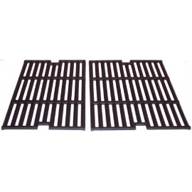 2pc Matte Cast Iron Cooking Grid for BBQ Pro, Outdoor Gourmet Gas Grills 21
