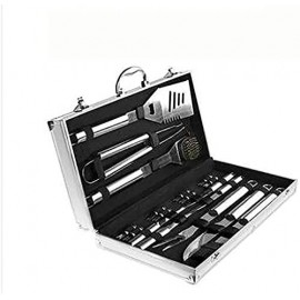 AACXRCR Barbecue kit BBQ Accessories Stainless, The Very Best Grill Gift on Birthday Wedding Professional BBQ Accessories Set for Outdoor Cooking Camping Grilling Smoking