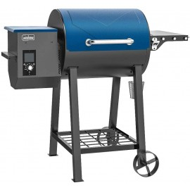ASMOKE AS500N-1 Electric Wood Fired Pellet Grill and Smoker, Pack of 5 Seasoning BBQ Kit, Safe Certificated, 465 sq in Cooking Area, 8 in 1 Outdoor Cooker, PID Control Temperature 180℉ to 500 ℉,Tahoe Blue