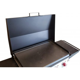 Backyard Life Gear Hinged Cover Lid for Camp Chef FTG600 Flat Top Griddle - Black