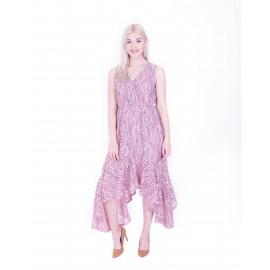 Blush Flower  Sleeveless Lace Dress