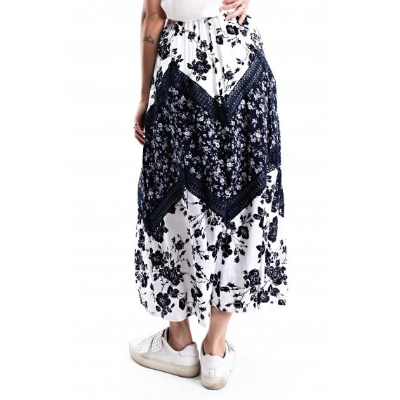 Nautical Floral  i Skirt