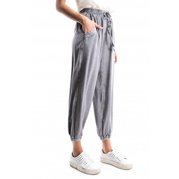 Classic Grey Enzyme Washed Solid Jogger P t