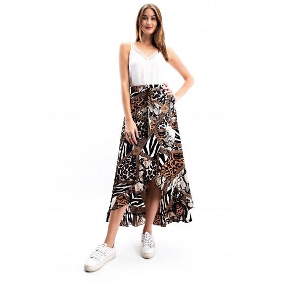 So histicated Safari Wra  Skirt