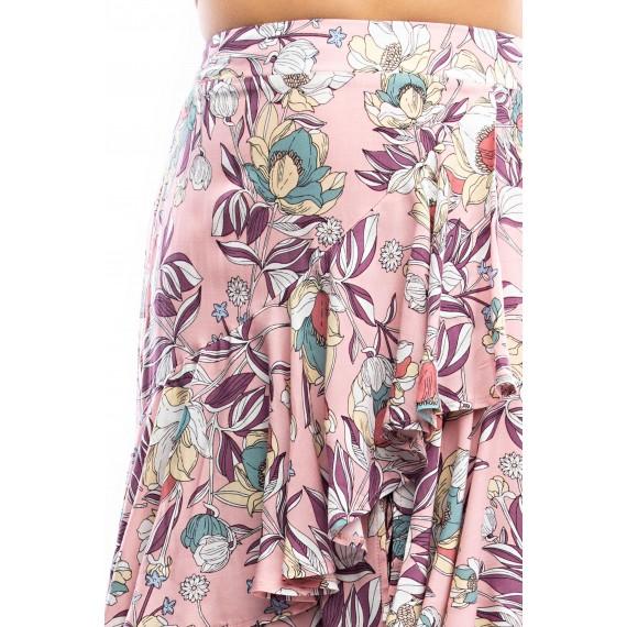 As mmetrical Tiered Maxi Skirt