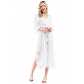 Roman God ss Eyelet White Summer Dress